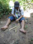 Tailler nos baguettes en bambou